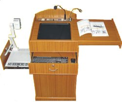 Saatvik Smart Wooden Podium SIL-510 Inbuilt Interactive Monitor