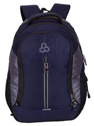 Navy Blue -L.Gray Elegant Stylist Casual Backpack Bag