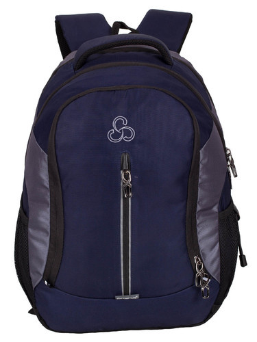 Cosmus Navy Blue- L.Gray Navy Blue -L.Gray Elegant Stylist Casual Backpack Bag