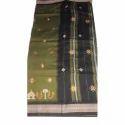Printed Kasuti Kashida Silk Saree, Machine Made, 6 Meter