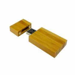 Brown Wooden Shape Pen Drive, Memory Size: 16 GB