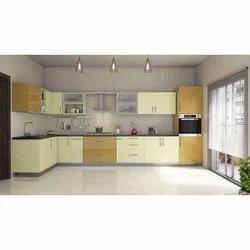 Wooden and PVC Modular kitchen