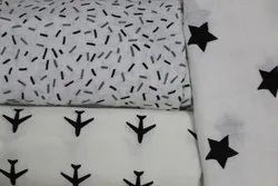Organic Cotton Double Cloth Printed Swaddle Fabric