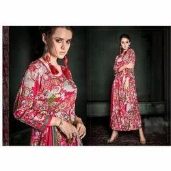 Ladies Rayon Printed Casual Kurti