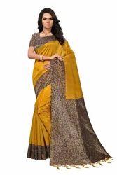 Kalamkari Mysore Silk Jhalor Saree