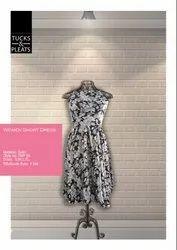 Black Satin Silk Ladies Printed Sleeveless Satin Short Dress