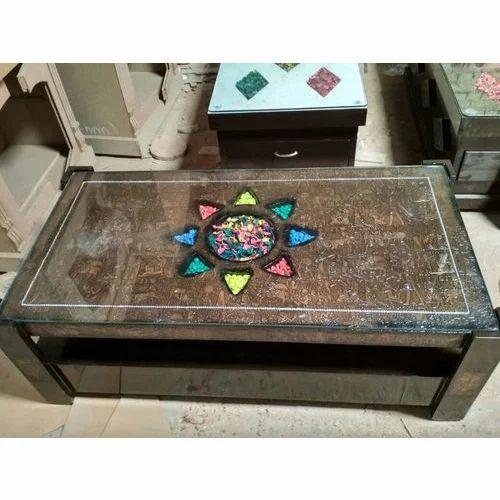Glass Top Designer Center Table