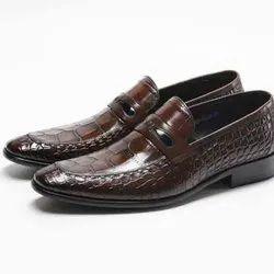 Brown Leather Designer Mens Formal Shoes