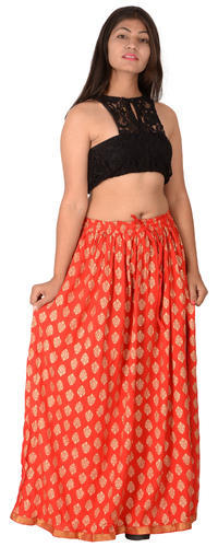 1def3b2872 Multicolor Diamo Casual Rayon Printed Long Skirt, Rs 325 /piece | ID ...