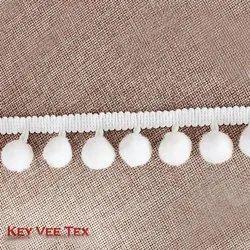 White Pom Pom Lace