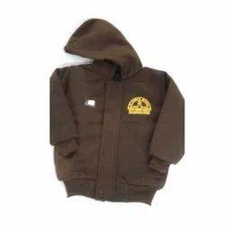 Brown Fleece School uniform Jacket