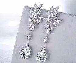 Pear Marquise Moissanite Diamond Long Earrings
