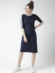 Ladies Blue Midi Dress