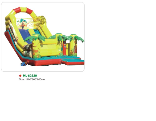 PVC Outdoor Playground Inflatable Slides (HL-62329), Size (Centimetre): 1100*600*600
