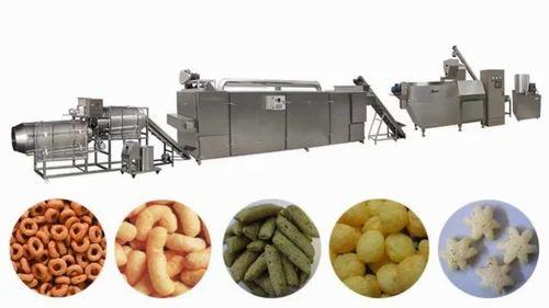 Batch Type Corn Puffs Snacks Line