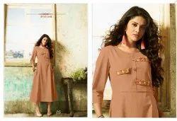 Bollywood Ruby Slub Designer Kurti