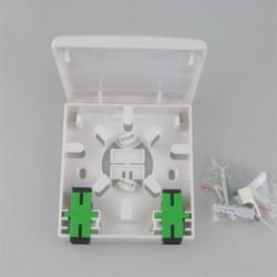 Fiber Optic 2 Port Wall Mount Outlet Socket Faceplate