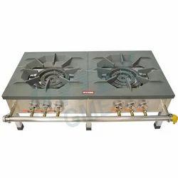 Iron Top Double Burner Gas Stove
