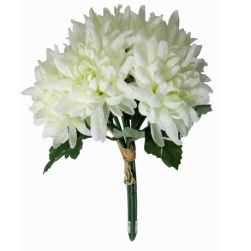 Synthetic White Chrysanthemum Flower Bunch