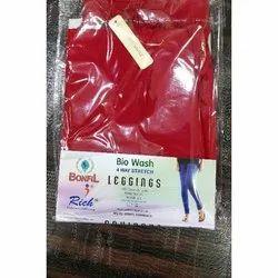 Bonfil Plain Cotton 4 Way Stretch Biowash Legging