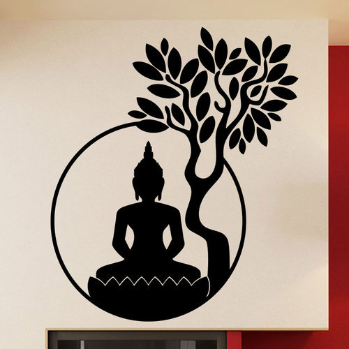Beautiful Creative Lord Buddha Wall Decal