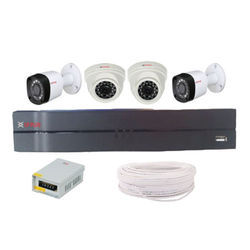 CP Plus 1.3 MP 4 CCTV Camera with 4 Channel DVR Kit