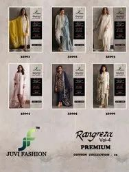 Juvi Fashion Rangreza Vol 4 Premium Cotton Collection 19 Cambric Cotton Pakistani Salwar Kameez Coll