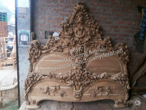 Teak Wood Carving King Size Wooden Bed Warranty More