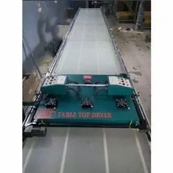 Glass Top Screen Printing Table With Dryer