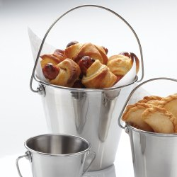 Stainless Steel Mini Serving Pail Catering Bucket With Handles