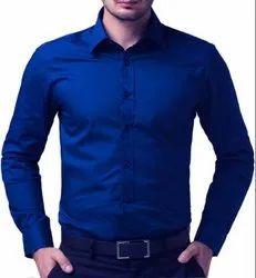 Slim Fit Long Sleeve Formal Blue Shirt for Men