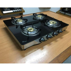 4 Burner Glass Top Gas Stove