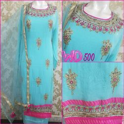 Georgette Party Suits W-500