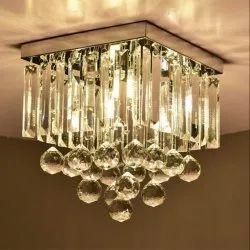 Ceiling Fancy LED Glass Chandelier
