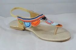 Women Ethnic Embroidered Kolhapuri Sandals