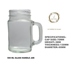 500 Ml Handle Glass Jar