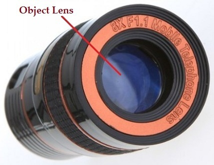 3keys black 8x zoom telescope universal camera lens for all mobile