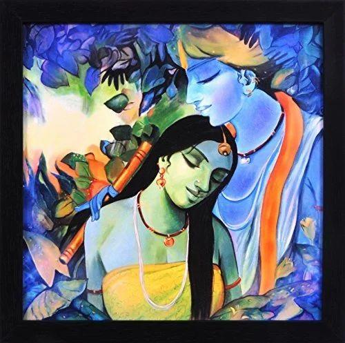 Krishna Painting Radha Poster
