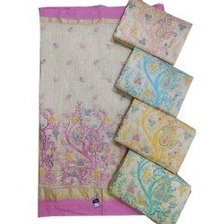 Casual Wear Designer Embroidery Cotton Saree