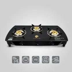 Three Burner Digital Glass Top Stove, Model No.: Sohum 3B, Packaging Type: Box