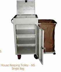 india Multicolor House Keeping Trolley SS Single Bag, For Hotels, Size: 60