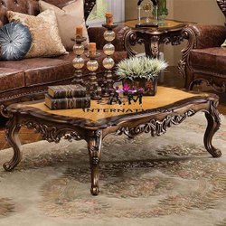 A.m international Wood carved center table