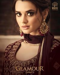 Mohini Fashion Glamour-55 Series 55001-55005 Stylish Party Wear Velvet Suit