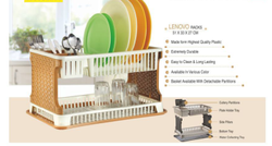 Plastic Multicolor Aristo Lenovo Kitchen Rack