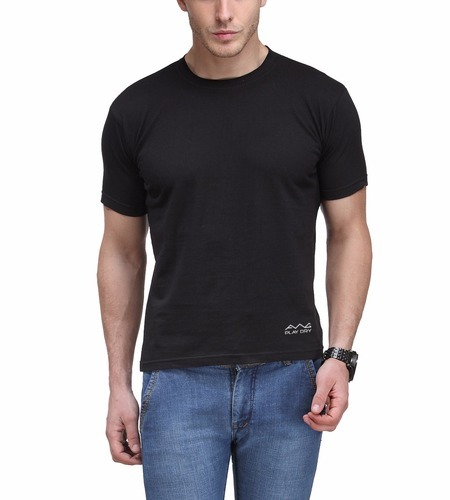 0f6b4f31 Dryfit Polyester Half Sleeve AWG Dryfit Round Neck T-shirt - Black Colour