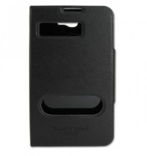 newest 570b0 46aaa Caller Id Flip Case Cover For Samsung Galaxy Note 2 N7100