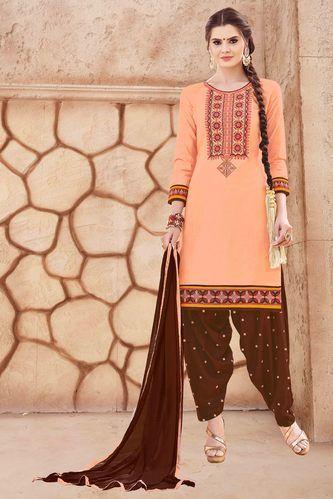 34969e7bfa Unstitched Cotton Stylish Patiala Salwar Suit, Rs 895 /piece | ID ...