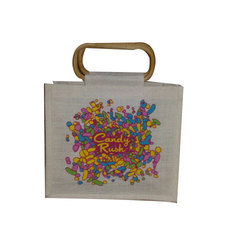 Multicolor Printed Cane Handle Bags