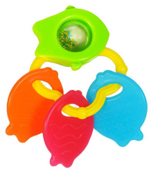 Giggles Green and fish teether