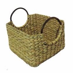 Kauna Grass, Straw Beige Eco Friendly Cane Handle Basket